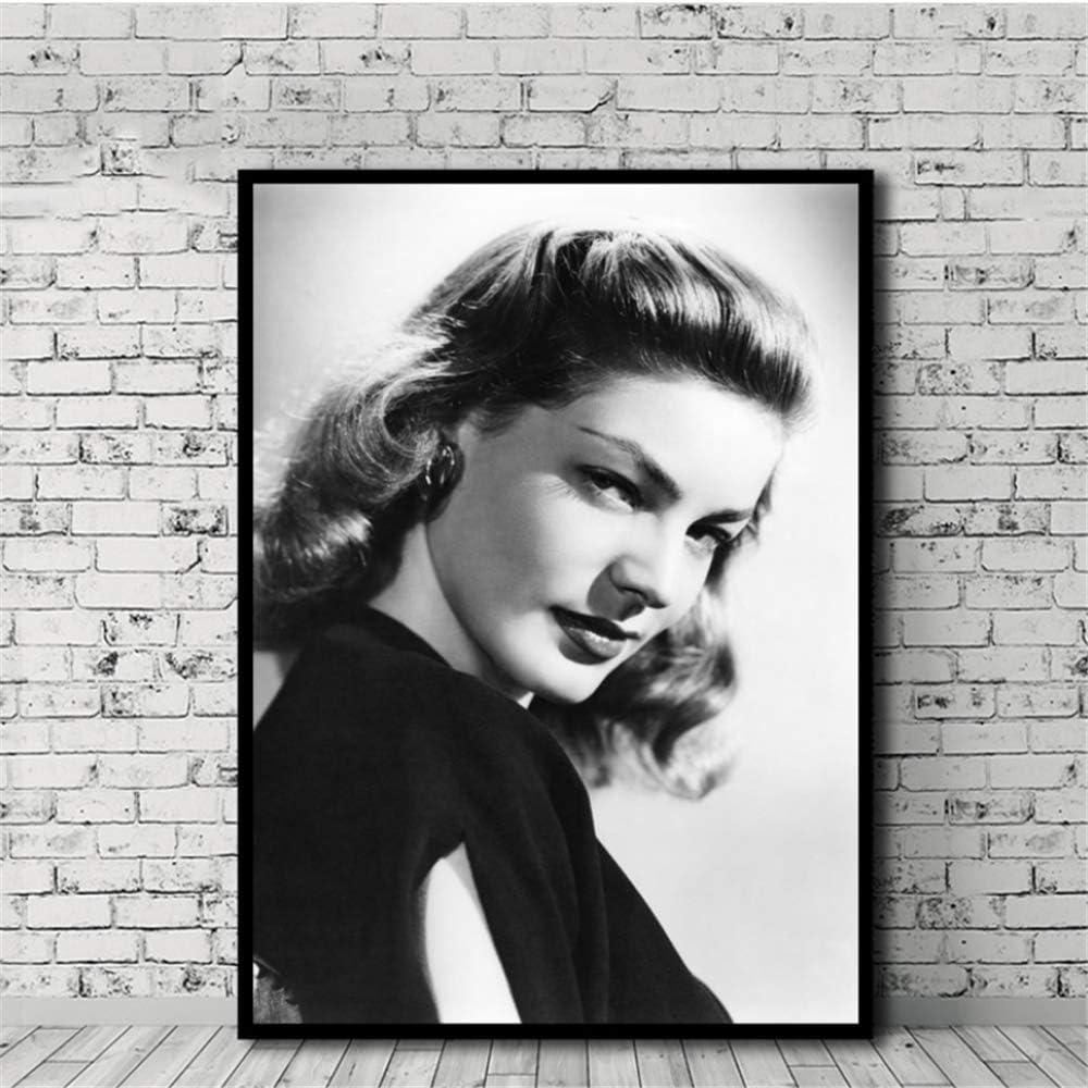 CAPTIVATE HEART Lienzos de Fotos 30x50cm sin Marco Lauren Bacall Poster Canvas Painting Print Wall Art Living Room Decoraci/ón del hogar
