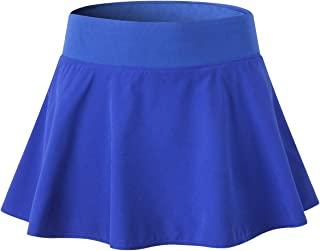 EZ-Joyce Big Girl's Pleated Active Skort Super Light Women's Mini Tennis Skirt with Shorts