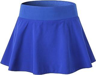 EZ-Joyce Big Girls Pleated Active Skort Elastic Tennis Skirt with Shorts