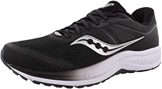 Saucony Omni 19 Shoe for Running Jogging on Road or Light Trail with Pronation Support for Man Black