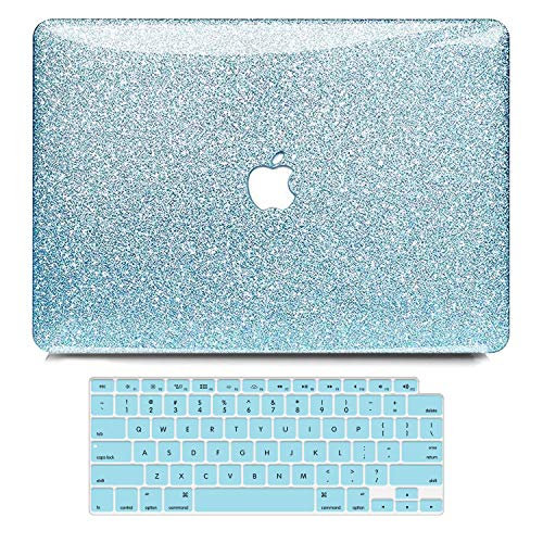 B BELK MacBook Air 13 Inch Case 2020 2019 2018 Release A2337 M1 A2179 A1932, Shining Sparkly Crystal Smooth Plastic Hard Case with Keyboard Cover with Touch ID & Retina Display, MacBook Air 2020 Case