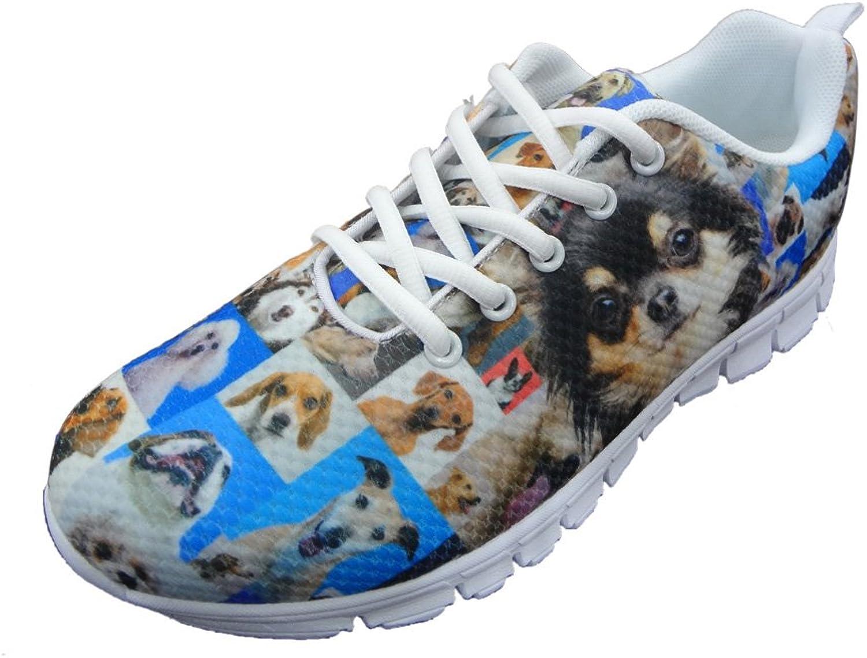 Showudesigns Vintage Cute Dog Print Women's Fashion Sneaker Walking Running shoes