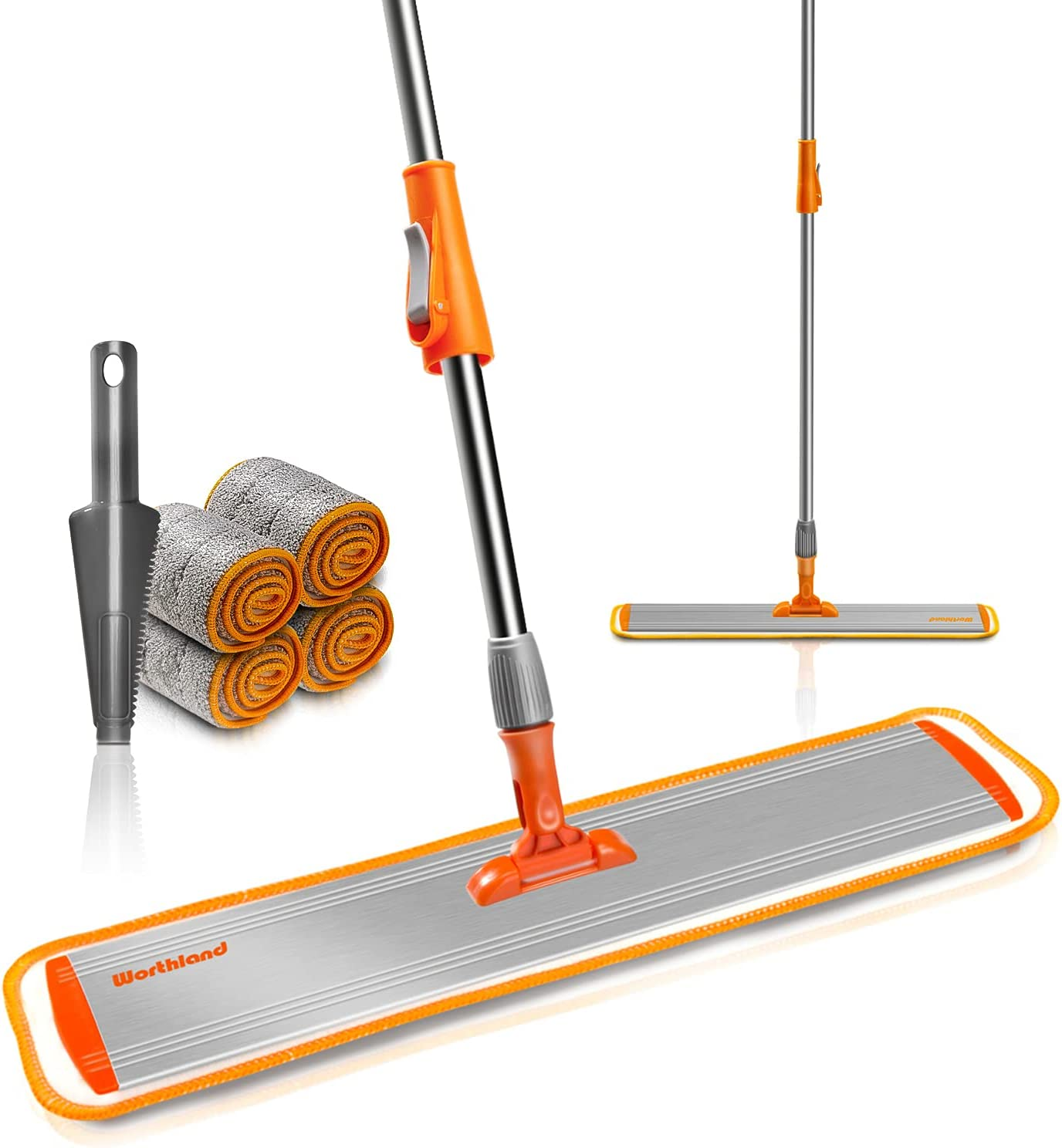 Worthland 24inch Microfiber Flat Mop Cleaning Free Shipping Cheap Bargain Limited time sale Gift Adjusta Floor for