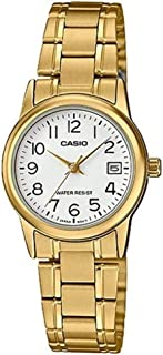Casio Watch For Women Quartz, Analog Display and Stainless Steel Strap LTP-V002G-7B2UDF