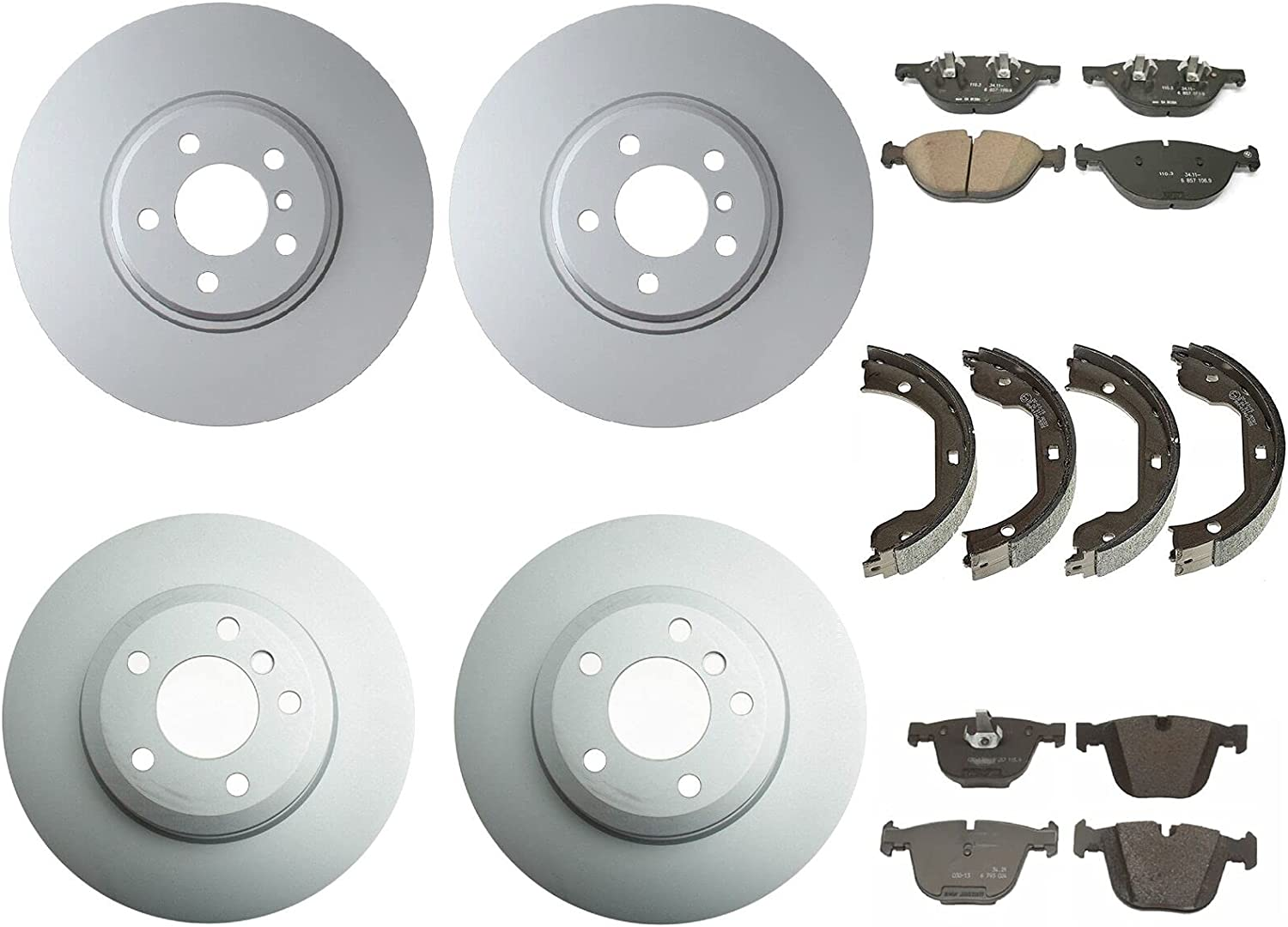 Front and Phoenix Mall Rear Brake kit Disc wit Pads Shoes Compatible Rotors Cheap mail order sales
