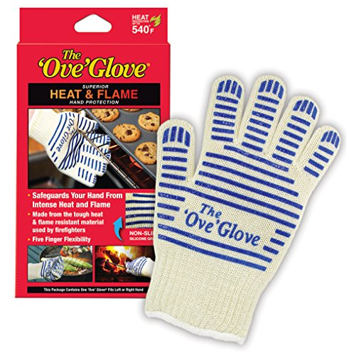 Ove Glove HH501-18 Hot Surface Handler Oven Mitt Glove, Perfect for Kitchen/Grilling, 540 Degree Resistance, As Seen On TV Household Gift, Heat & Flame