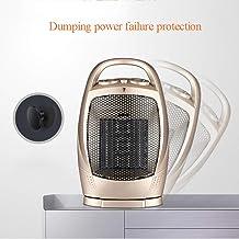 ZQZWY Estufa halógena,Estufa de Cuarzo,Calentador del Ventilador, Aire Acondicionado - Calentador con 3 configuraciones de Calor e Interruptor de Corte de Seguridad, 20W / 750W / 1500W (Naranja)
