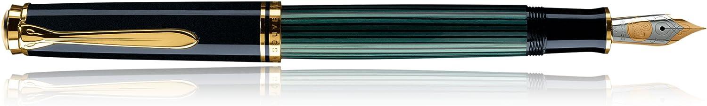 Pelikan 901520 Kolbenfüllhalter Souverän M 300 mit BiFarbe-Goldfeder BiFarbe-Goldfeder BiFarbe-Goldfeder 14-K 585 Federbreite B, 1 Stück, schwarz grün B0020431V4 | Viele Stile  ff1e2e