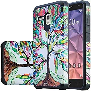 [Coverlab] Shock Proof Phone Case for Alcatel Pixi Glory, Onetouch Flint, Fierce XL, Jitterbug Smart Protective Soft Silicone Cute Girls Women Cover - Vibrant Tree