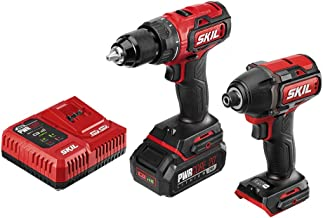 Skil 2-Tool Drill Combo Kit: PWRCore 20 Brushless 20V Cordless Drill Driver and 1/4 Inch..