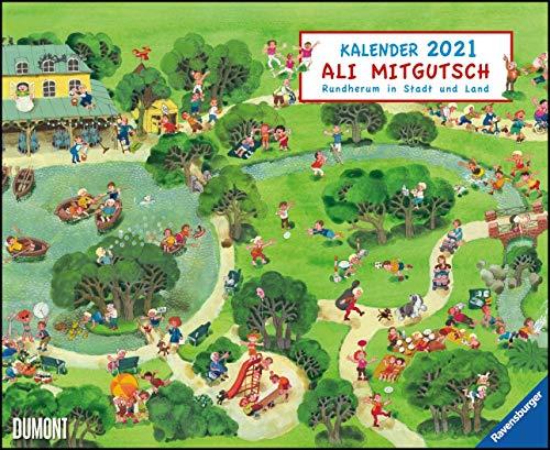 Ali Mitgutsch 2021 – Wimmelbilder – DUMONT Kinder-Kalender – Querformat 52 x 42,5 cm – Spiralbindung