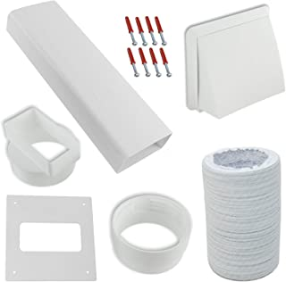Spares2go Exterior Wall Venting Kit & Extension Hose For Bush Tumble Dryers (White, 4