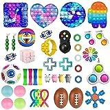 Bprtcra 43 PCS Fidget Toys Pack, Sensory Toys for Soulager Le Stress et lanxiété, Fidget Box Bubble Toys, Anti Stress Toys pour Enfants, Adultes, Couples Cadeau,Type N