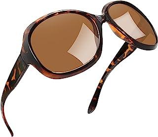 Polarized Sunglasses for Women Vintage Big Frame Sun Glasses Ladies Shades