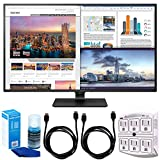 LG 43UD79-B 43-inch 4K Ultra HD IPS LED Monitor Bundle with SurgePro 6-Outlet Surge Adapter with Night Light, 2X 6ft HDMI Cable and Screen Cleaner for LED TVs