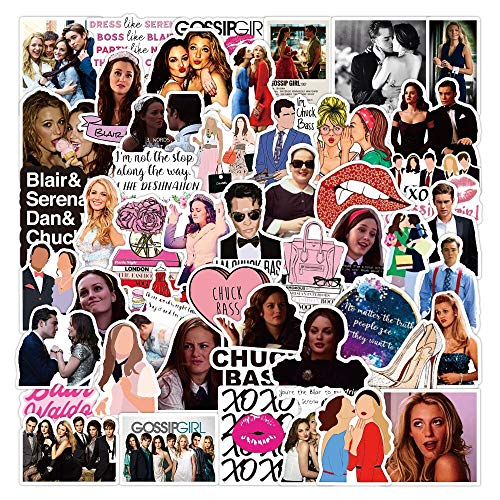 /Pack Classic Tv Show Gossip Girl Stickers for Furniture Wall Desk DIY Chair Toy Car Computer Laptop Decal Motorcycle 50Pcs