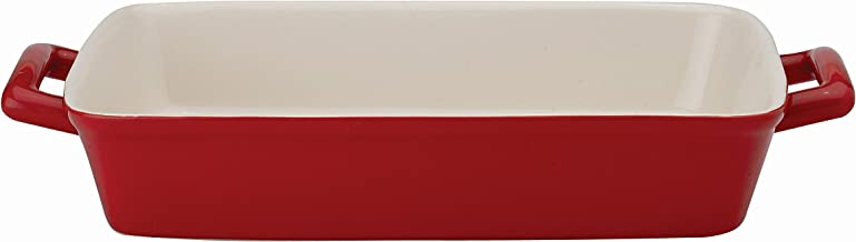 Mrs. Anderson's Baking Oblong Rectangular Baking Dish Roasting Lasagna Pan, Ceramic, Rose, 13-Inches x 9-Inches x 2.5-Inches