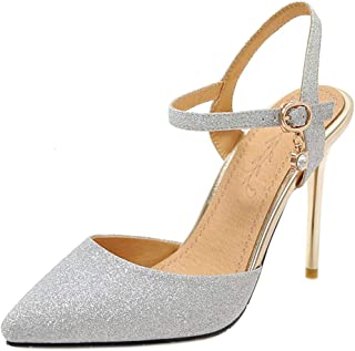 Melady Women Shoes Fashion Stiletto Heels Sandals Ankle Strap