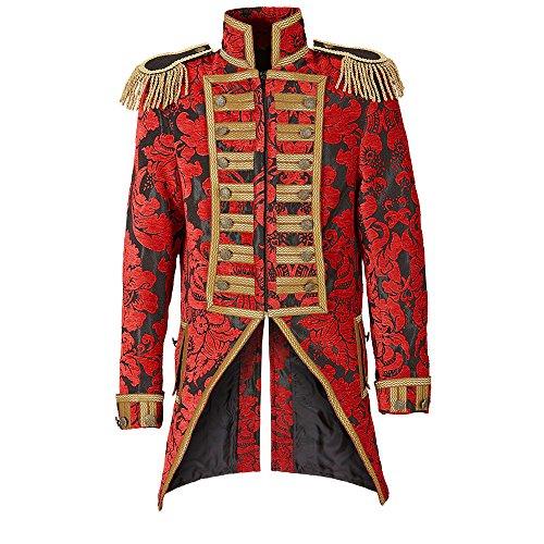 Widmann 59361 - Kostüm Parade, Frack, rot, für Männer, Mottoparty, Karneval