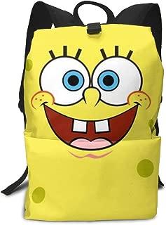 CHLING Lightweight Adult Backpack Briefcase Laptop Shoulder Bag Spongebob Squarepants Yellow Classic Basic Daypack Bag
