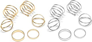 12 Pcs Joint Knuckle Ring Set Gold Silver Color Circle Open Ring for Women Girls