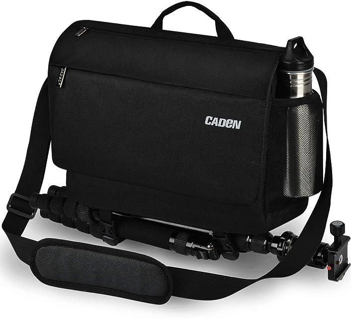 CADeN Bolsa Bandolera Camara Reflex - 1 cámara 1 Lentes(3Lentes) Otros Accesorios fotográficas para Canon Nikon Sony