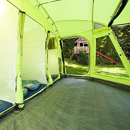 Skandika Copenhagen 6 460 x 400 cm color verde Tienda de campa/ña tipo t/únel