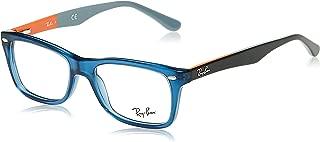 RX5228 Square Eyeglass Frames, Blue/Demo Lens, 50 mm