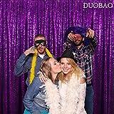 Pailletten-Kulissvorhang, violett, 2,8 x 2,1 m, für Fotografie, Paillettenvorhang, Duschvorhang, Hochzeit, Party, Hintergr&, Glitzer-Hintergründe, tolle Gatsby-Party-Dekoration (2,8 x 2,1 m, lila)