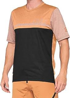 100% Airmatic shirt heren bruin/zwart 2021 fietsshirt korte mouwen