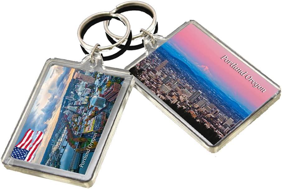 KR019 Portland Oregon City Keychain United States Travel Photo Keyring