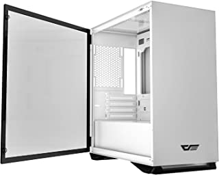 darkFlash Micro ATX Mini ITX Tower MicroATX Computer Case with Magnetic Design Wide Open Door Opening Swing Type Tempered ...