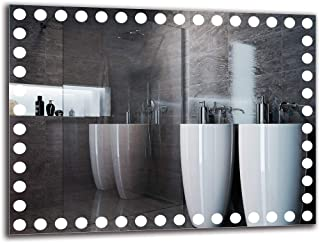 Espejo LED Premium - Dimensiones del Espejo 80x60 cm - Espejo de baño con iluminación LED - Espejo de Pared - Espejo de luz - Espejo con iluminación - ARTTOR M1ZP-57-80x60 - Blanco frío 6500K