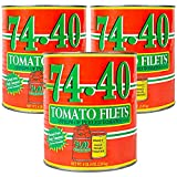 Stanislaus, 74-40 Tomato Filets (Strips of Peeled Tomatoes), Size #10 Can (6 lb, 6 oz) 102 oz (Pack of 3)