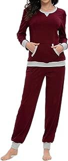 MINTLIMIT Women's Pajamas Set Long Sleeve Sleepwear Pj Sets Soft Loungewear Nightgowns with Pocket