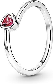 MULA Women Rings Heart-Shaped Jewelry Girls Gift for Valentine's Day and Anniversary