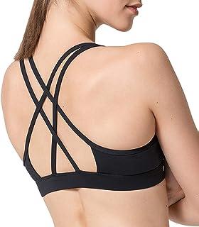 Yvette Criss-Cross Back Thin Strappy Yoga Sports Bra for Women