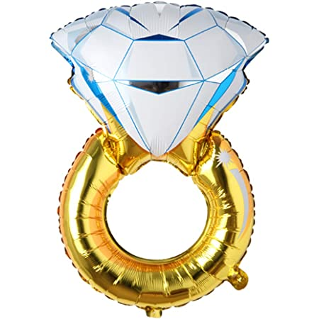 Diamond Ring Foil Aluminum Helium Balloon Wedding Engagement Party Decorations
