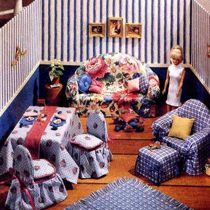 1997 McCALL'S CRAFTS SEWING PATTERN 8825 - DOLL FURNITURE FOR 11.5' FASHION DOLLS (BARBIE, ETC.) (McCALL'S CRAFT PATTERNS FOR 11.5' DOLLS) (McCALL'S CRAFT PATTERNS FOR 11.5' DOLLS)
