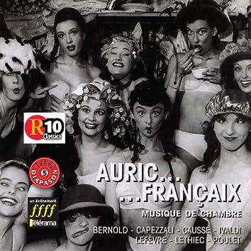Auric - Françaix : Musique de chambre