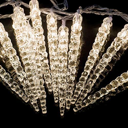 (60er, 7,8 Meter) LED Acryl Eiszapfenlichterkette Innen & Außen! 4,8 Meter & 3 Meter Zuleitung!! Warm-Weiß. Erweiterbar! 60 Eiszapfen als Lichterkette...