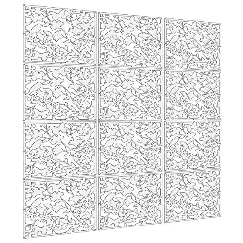 languan 12pcs Mariposa Flor y Pájaro Plástico para colgar cortina de pantalla habitación separador partición