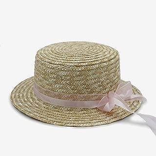 XinLin Du Fashion Classical Style sun hat for women Bowknot flat hat Elegant Lady Women's Summer Bow Straw Hats