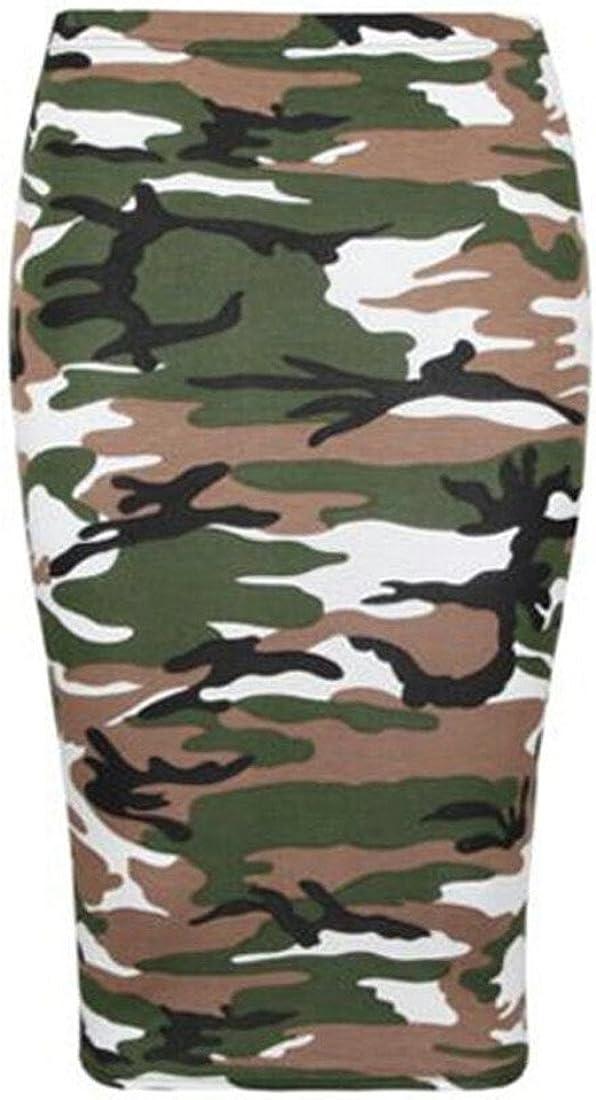R KON Women'S Office Bodycon HIGH Waisted Printed Pencil Skirt