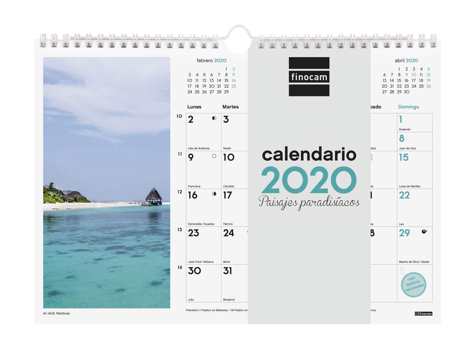 Finocam - Calendario de pared 2020 Imágenes Espiral 30x21 Paisajes ...