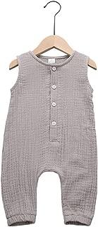 Newborn Baby Boys Girls Romper Jumpsuit Cotton Linen Sleeveless Ruffled Bodysuit Infant Summer Clothes Outfits