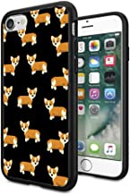 Matcase for iPhone 7 Case iPhone 8 Case - Corgi Dog Pattern Hard Clear Transparent Anti Scratch Resistance with Full Protection TPU Bumper Designer Case