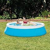 Easy Set Piscina, Familia de verano Piscina para niños y adultos Piscina de salón inflable sobre tierra Piscina con bomba de filtro para niños / niños pequeños en jardín, patio trasero al aire libre P