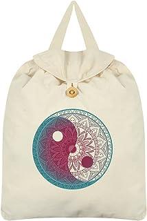 Unorthodox Yin Yang Festival Backpack Cream 35 x 41cm