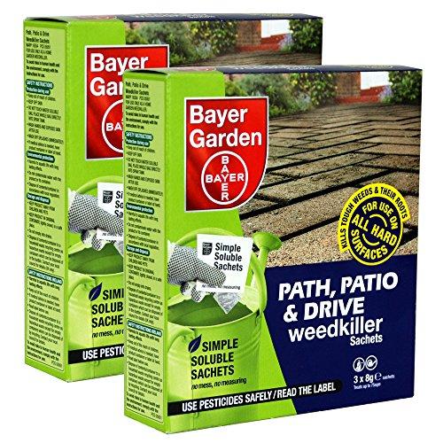 Bayer Garden 2 x Path, Patio & Drive Weed Killer - 3 x 8g Sachets per pack...